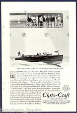 1930 CHRIS-CRAFT advertisement, 26-ft Runabout, Chris Craft wooden motorboat