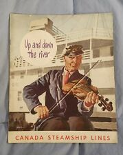 1948 CANADA STEAMSHIP LINES Advertising Travel Vacation Brochure Booklet Guide