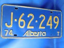 ALBERTA LICENSE PLATE  1974 TRAILER J 62249 CANADA CAR SHOP GARAGE MAN CAVE SIGN