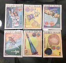 Vintage Set Of 6 Vietnam Stamps 1980 Sport Space Interkosmos