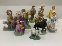 Lot of 11 Vintage Ceramic Christmas Nativity Figurines Baby Jesus Mary Shepard