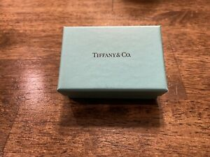 Tiffany & Co. Sterling Silver Football Keychain Key Ring in Pouch & Box