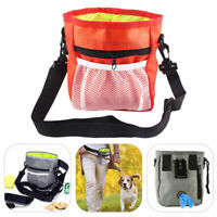 Dog Training Walking Bag Waist Belt Snack Treat Storage Pouch Poo Bag Outdoor UK
