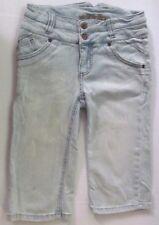 Girl's Denim Xhilaration Capri Pants Long Shorts Size M 8-10 Adjustable Waist