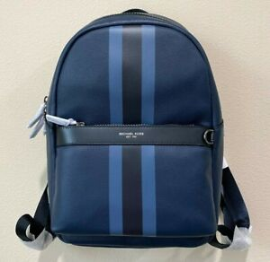 Michael Kors Greyson Leather Stripe Backpack
