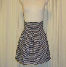 BNWT:BEAUTIFUL PORTMANS WHITE&NAVY ELASTICATED FIT AND FLARE SKIRT AUS 10 (US 6)