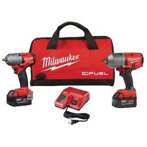"""Milwaukee 2988-22 M18 FUEL Auto Kit 1/2"""" and 3/8"""" Impact Gun Wrench Kit"""