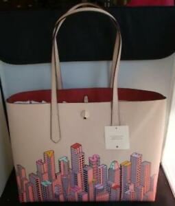 Kate Spade Rock Center Skyline Large Tote multicolor w/pouch& dust bag NWT $228