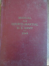 1949 U.S. ARMY -Military Law  For Courts Martial