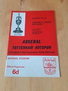Arsenal V Tottenham Hotspur - League Division 1 - 1967/68