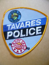 Patches: STATE OF FLORIDA CITY OF TAVARES 1880 USA POLICE PATCH (NEW*11.5x10.5cm
