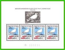 CZECHOSLOVAKIA 1983 PICASSO DOVE PAINTING M/S SC#2465a MNH BIRDS, ATOM
