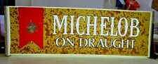 1970s Vintage Michelob On Draught Lighted Sign Works!
