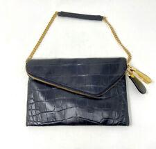henri bendel Purse Debutante Clutch Shoulder Bag Black Gold Chain