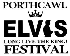 Festival de Elvis viajaron Corte De Vinilo Autoadhesivo con.