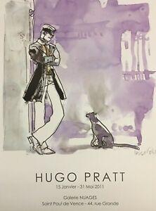 """Hugo Pratt - Manifesto """"Corto et le chat"""" accompagnato da """"Hugo Pratt"""""""