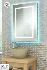 LED ILLUMINATED BATHROOM MIRROR / IP44 / SHAVER / REMOTE CONTROL- QUAD