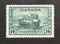 #259  Canada George VI - 1943 - 14 Cent stamp MH  - F/VF - superfleas