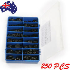 250PCS Boxed Black Ring Rubber Grommets Assortment Sealing Gasket Kit Car Truck