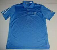 Mens Adidas Climacool American Century Championship Golf Polo Shirt Medium Blue