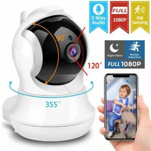 1080P FHD Wireless Security Camera PIR System WiFi Indoor Home Monitor Detection