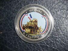 tresor du patrimoine medaille colorisee seconde guerre mondiale VICTOIRE 4 cms