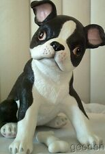 Lenox Boston Terrier Puppy Dog Sculpture
