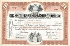 The Northern Central Railway Compagny Certificate 1952 (519)