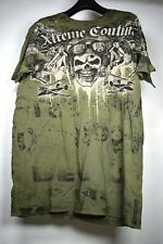 Affliction Extreme Couture Mens T-Shirt SS Green M New