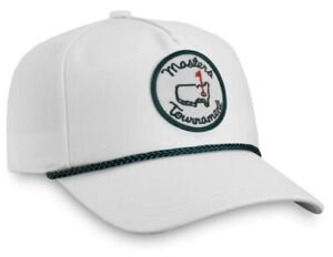 Masters White Green Rope Mens Hat Augusta National Golf Club Cap ANGC Rare 🔥 ⛳️