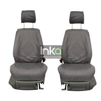 VW Caddy Front Set Inka Tailored Waterproof Seat Covers Grey MY 2006 onwards