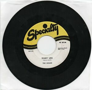The Chimes   Zindy Lou / Tears On My Pillow  on Specialty   Original  Doo Wop 45