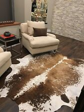 New Salt and Pepper Brazil Cowhide Rug Approx 7' X 6' Longhorn Speckled Cowhide