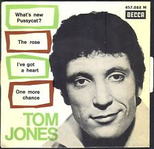 TOM JONES  WHAT'S NEW PUSSYCAT 45T EP BIEM DECCA 457.088 AVEC LANGUETTE