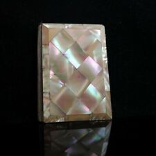 Antique Victorian mother of pearl card case, aide memoir