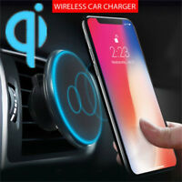 Qi Wireless Car Charger Magnetic Air Vent Mount Holder For Iphone XS Max XS Pad