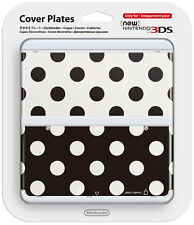 NEW Nintendo 3DS Cover Plate Pois Black & White (Limited Edition) IT IMPORT
