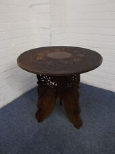 Carved Folding Wooden Table