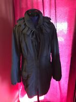 Authentic ELIE TAHARI DARK LILA  Coat Jacket Trench Size S/P