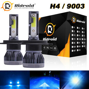 2x H4 9003 120W 280000LM LED Headlight Kit Hi/Lo Beam Light Bulbs 8000K Ice Blue