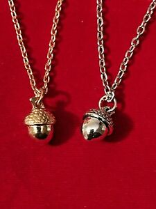 Gold/Silver Acorn Necklace ~ ~ Ebay Price ONLY £3.75 & FREE UK Post