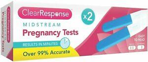 2x Midstream Pregnancy Test Early Test Pregnancy Digital Detection 99% Accuracy