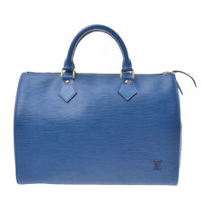 LOUIS VUITTON Epi Speedy 30 Blue M43005 Hand Bag 800000082617000