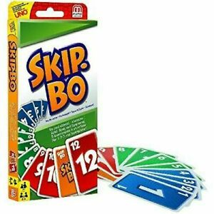 Skip-bo Card Game By Mattel Brand New Card Game Sealed Packaging Family Game UK