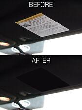 2015-2018 (US) Mustang [VCM] Visor Warning Cover - Matte Black - Perfectly Cut!