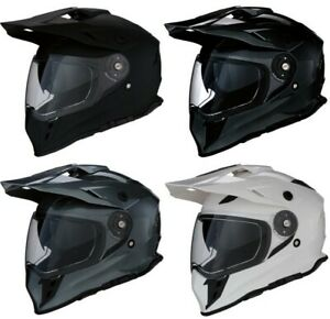 Zerone Motorcycle Helmet DOT Full Face Flip Up Motorcycle Helmet Dual Visor Street Sport Bike Race XL