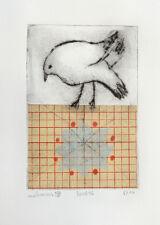 nabARus 300816-8 Pointe sèche/chine collé 9x13 sur papier 13x18 cm Art Singulier