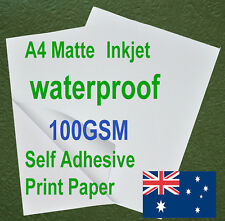 15sheets A4 100GSM Inkjet Waterproof Sticker Adhesive Matte Photo Print Paper