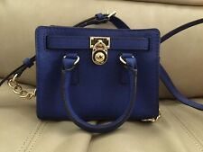 MICHAEL Michael Kors Hamilton Mini Messenger Bag Crossbody Handbag - Blue/Gold
