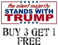 "Trump ""THE SILENT MAJORITY"" President Decal Bumper Sticker Make Again Donald"